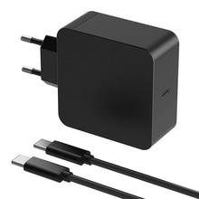 Uniwersalny Adapter do laptopa 65W ue ładowarka ścienna PD typ C zasilacz do Macbook Pro 12 13 cali 61W do DELL XPS 12 xiaomi air