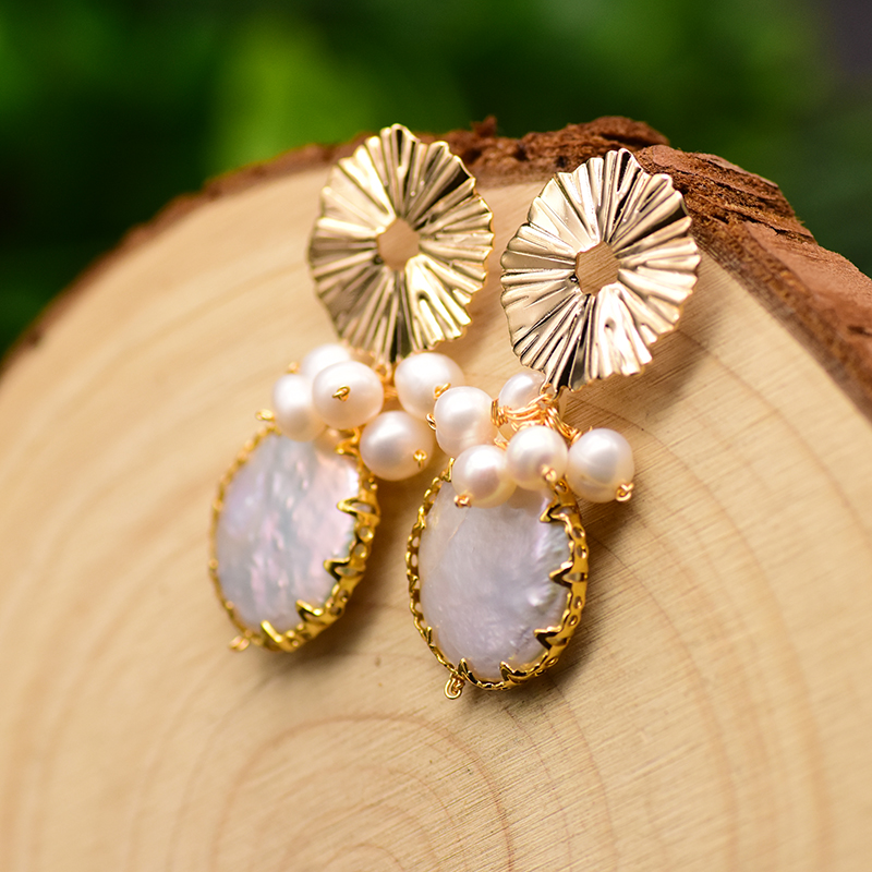 HTB1EuIZaQL0gK0jSZFxq6xWHVXaA - GLSEEVO Natural Fresh Water Baroque Pearl Earrings For Women Plant Leaves Dangle Earrings Luxury Handmade Fine Jewelry GE0308