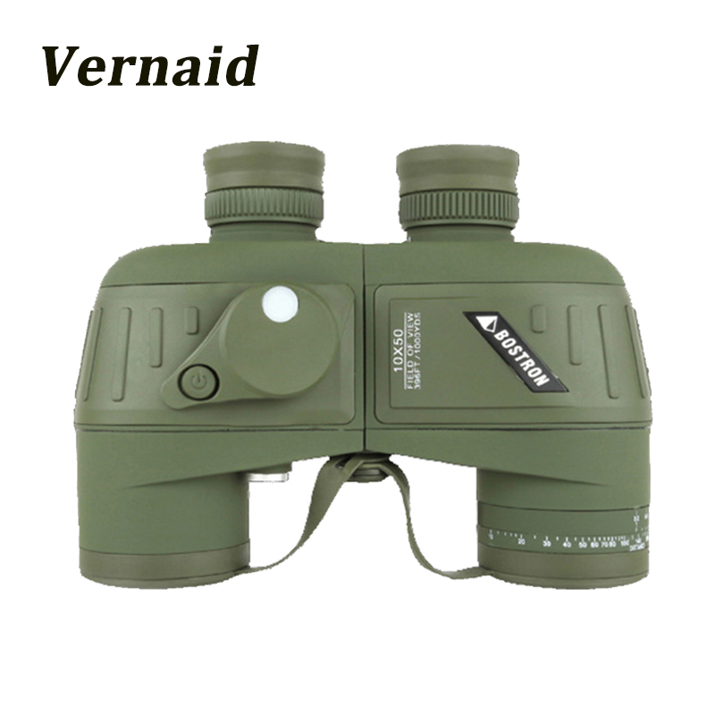 10x50 Waterproof binoculars Telescope HD professional military binocular with digital Compass Night Vision Hunting цена