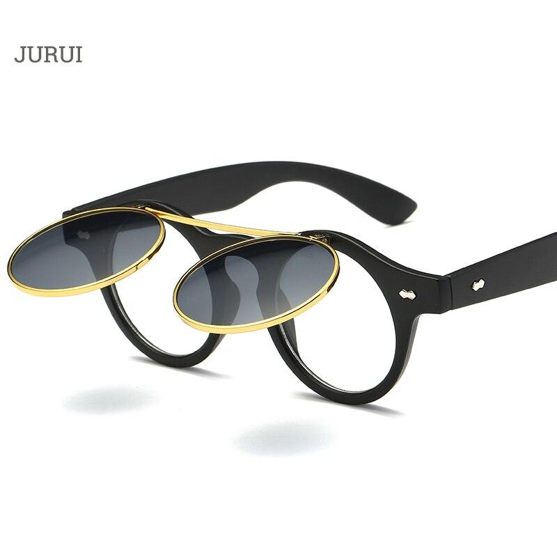 Steampunk Women Sunglasses Vintage Open Sun Glasses For Men Round Glasses Oversized Sunglass Female Male Retro Eyewear