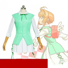 Anime Cardcaptor Sakura Card Captor Clear Card Sakura Hen Kinomoto ED Angle Green Cosplay Costume цена