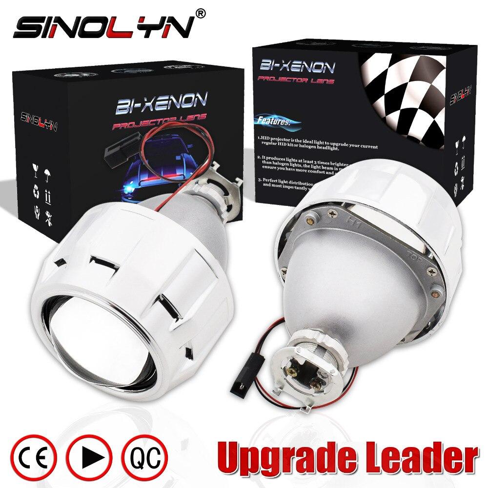 SINOLYN Mise À Niveau En Métal 2.5 Leader HID Bixenon phare de projecteur Lentille H4 H7 Utiliser H1 Ampoule style de voiture Projecteur Lentilles Rénovation bricolage