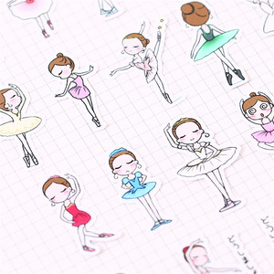 Image 2 - 40 PCS Cartoon ballet student Paper  Sealing Stickers Crafts And Scrapbooking book Decorative sticker DIY Stationery