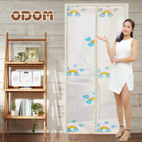 Rainbow Door Screen Magnetic Stripe And Double Magnetic Block Anti MosquitoTulle Curtain Especial Velco Embroid Door