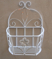 052842 Wrought iron balcony hanging pot rack Can hanging on the wall flowers Sitting room corner Angle flower stands