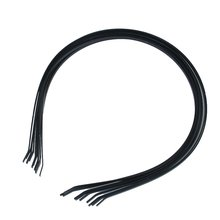 KSFS 10Pcs 3mm Blank Headbands Metal Hair Band Lots DIY Accessories Black