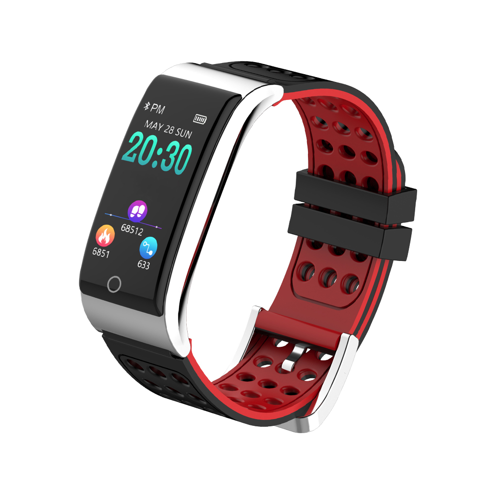 Hot sale Smart Band Fitness Bracelet Heart Rate Monitor Wristband Tracker ECG PPG Blood Pressure Ip67 Waterproof Smart Watch цена 2017