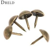 DRELD 100 шт. 7x11 мм штифты Doornail tachas античная бронза декоративные обивочные гвозди для ювелирных изделий подарок коробка шурупы
