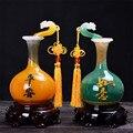 Friedlich Wunsch Vase Ornamente Hause Dekoration Zubehör Vase Figuren Chinesischen Stil Feng Shui Handwerk Unternehmen Öffnung Geschenke|Figuren & Miniaturen|   -