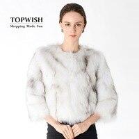 100% True Fox Fur Coat Natural Fur Jacket Real Fox Fur Waistcoat Fashion Factory Brand Fur Wholesale Custom plus size TNT184