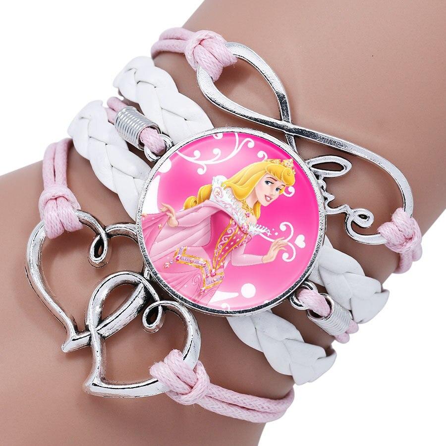 Детский Браслет Принцессы Диснея с героями мультфильма «Холодное сердце», Эльза, прекрасный подарок для девочек, аксессуары для одежды, детский браслет, украшения для макияжа - Цвет: 9