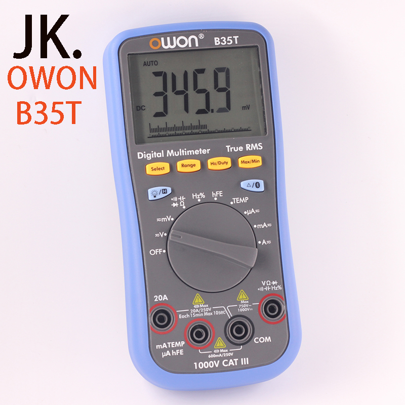 OWON B35T DM Series Digital Multimeter function as 3 in 1,multi-connection supported mobile app true rms multimeter bluetooth owon b35t multimeter with true rms measurement tl809 fluke test leads tlp20157 b35ttlp20157