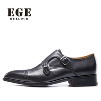 Men Dress Shoes EGE Brand Top Quality Handmade 100 Genuine Leather Wedding Party Awesome Shoes Slip
