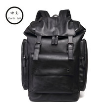 Brand Designers Men Women Travel Backpack Fashion PU Leather College Student School Bags Vintage Ladies Rucksack Boy Laptop Bag