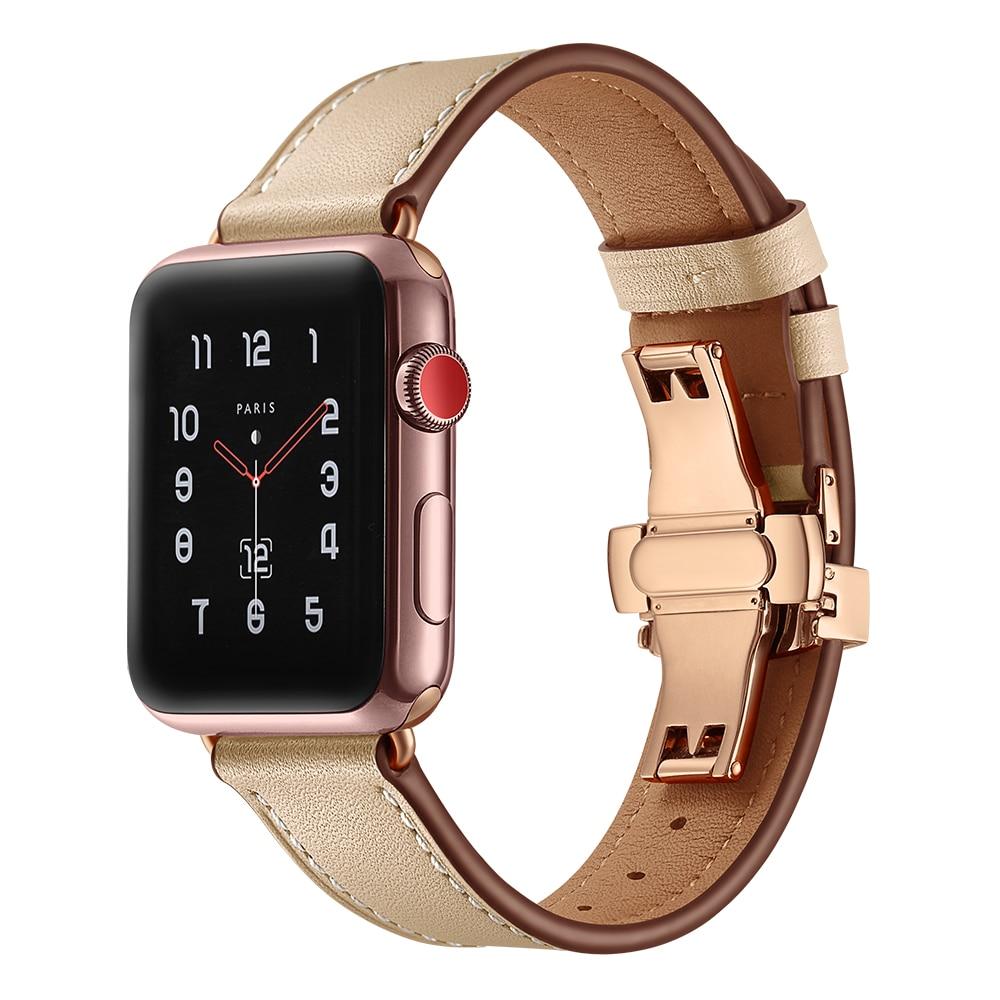 Luxury Genuine Leather Butterfly Bracelet for Apple Watch