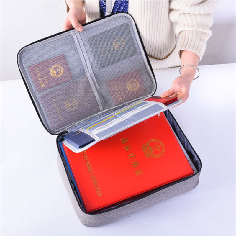Multi-layer Waterproof Document Bag Travel File Folder Case Credential Bags Notebooks Pens Computer Organizer Accessories