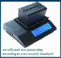 Quickly Digital Battery Charger For Sony Handycam NEX VG10E NEX VG20E NEX VG20H NEX VG30 NEX
