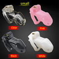 S Size New lock Male Chastity Device Adult Cock Cage Sex Toy Chastity Belt Sex Product with 4 Size Penis Ring