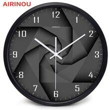 Airinou 3D Вихревой Стиль современные стеклянные и металлические настенные часы, библиотеки, научно-исследовательский центр или компания