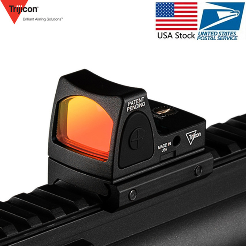 US Stock Trijicon Mini RMR Red Dot Sight Collimator Glock Rifle Reflex Sight Scope Voor Airsoft