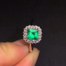 CQT Fine Jewelry G18k Rings Real Diamonds 18K Gold Natural Emerald 0.76ct Gemstones Female Wedding for women Ring