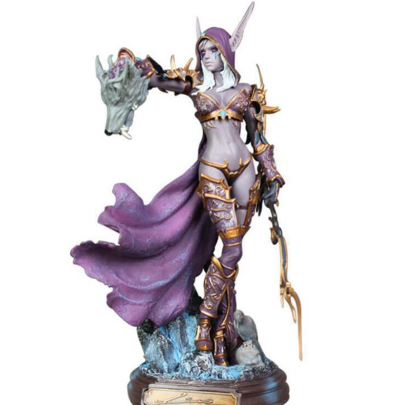 Games of WOW Toys 23CM Sylvanas Windrunner Archery Queen PVC Anime Action Figure Model With Base