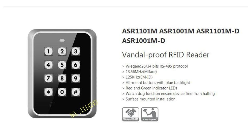 ФОТО Free Shipping DAHUA Vandal-proof RFID Reader Without Logo ASR1101M/ASR1001M/ASR1101M-D/ASR1001M-D