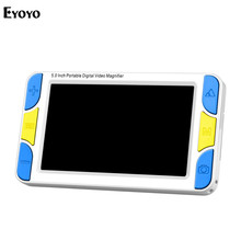 Eyoyo 5.0 inch LCD 4-32X portable Digital Magnifier lupa Electronic video Reading Aid Portable with HDMI 1080 i60 & AV Output
