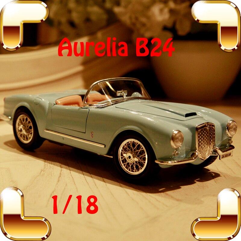 Christmas Gift Aurelia B24 1/18 Model Diecast Car Collection Alloy Table  Decoration Toys Classic