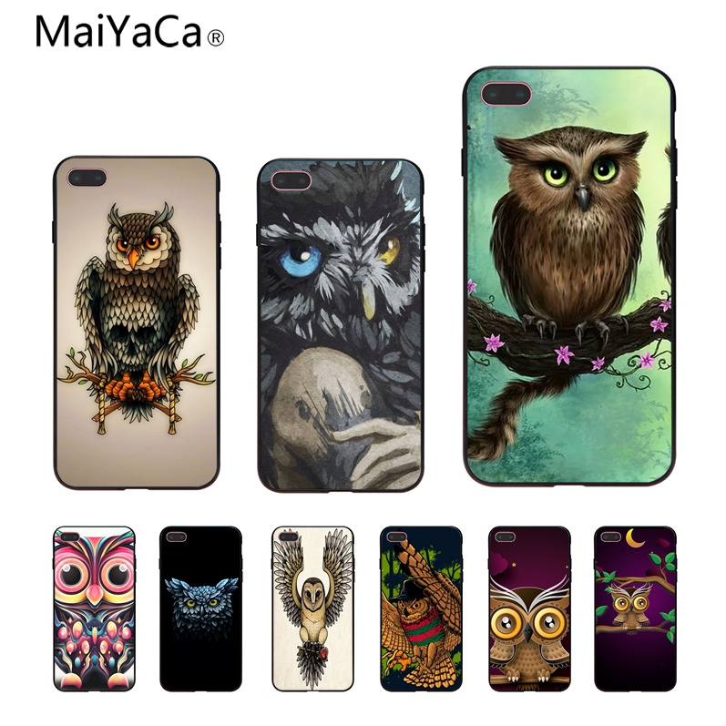 MaiYaCa owl Novelty Fundas Phone Case Cover For iphone 6 6s 6plus 6S plus 7 7plus 8 8plus 5 5s 5C Case cover