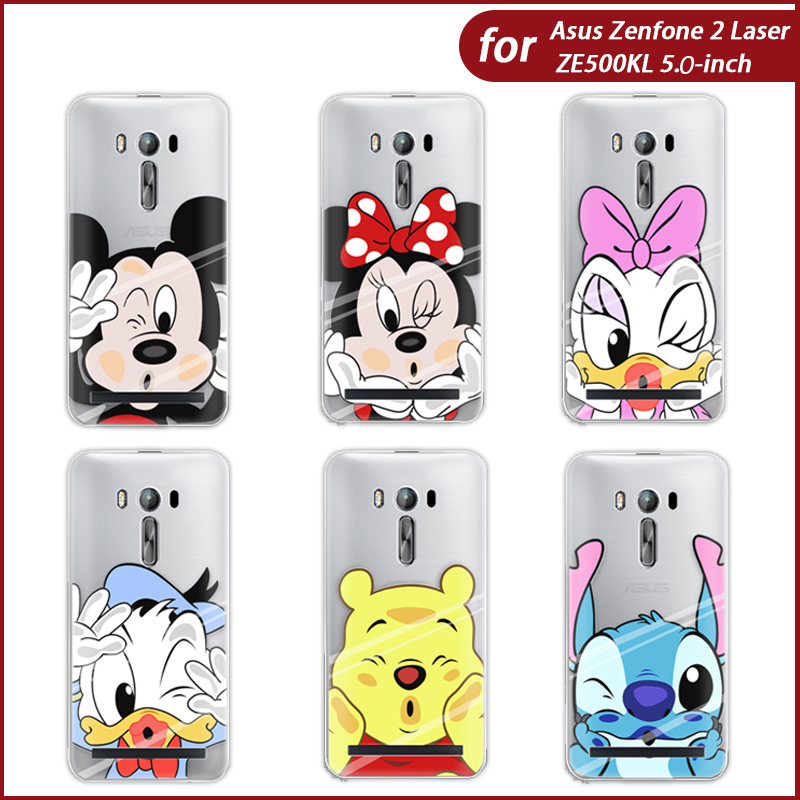 New Arrival Phone Case For Asus Zenfone 2 Laser ZE500KG/ZE500KL 5-inch Cartoon Characters Painted TPU Soft Case