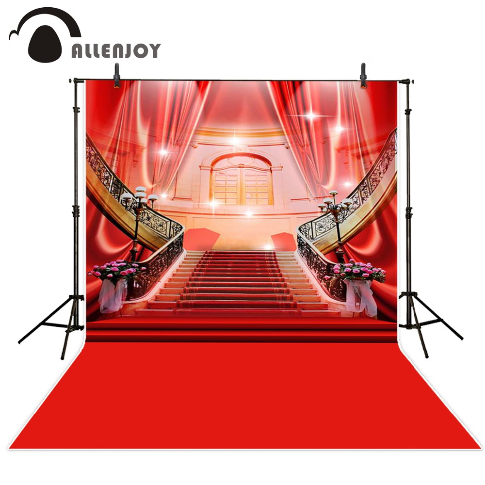 Allenjoy photographic background Luxury shining red carpet curtain photography fantasy fabric vinyl backdrops studio party allenjoy photographic background color purple red stars kids vinyl photo studio photography backdrops lovely