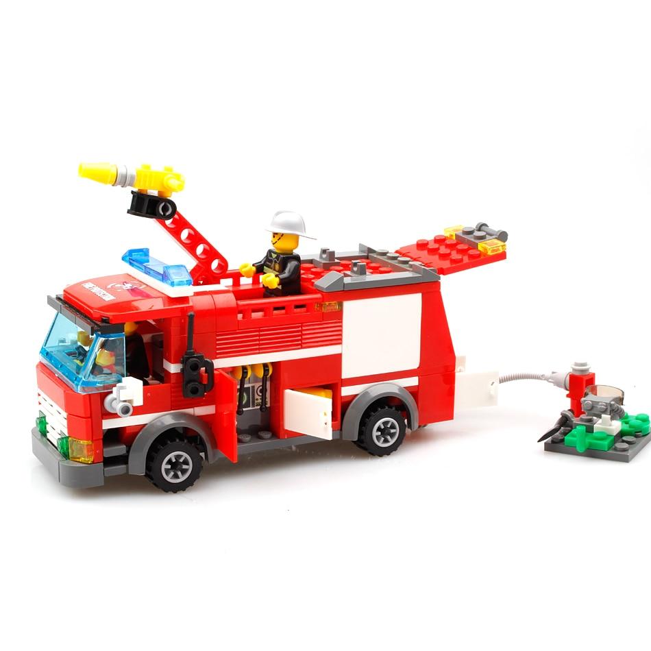 206st FireTruck Building Blocks Kompatibel Legoed City Brandmän - Byggklossar och byggleksaker - Foto 2