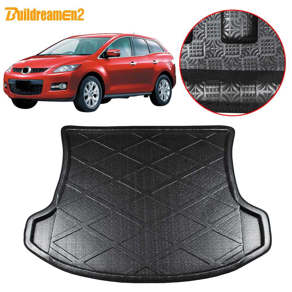 Buildreamen2 For Mazda CX-7 CX7 2007-2017 Car Styling Tail Trunk Mat Boot Tray Liner Rear Floor Carpet Luggage Cargo Mud Pad
