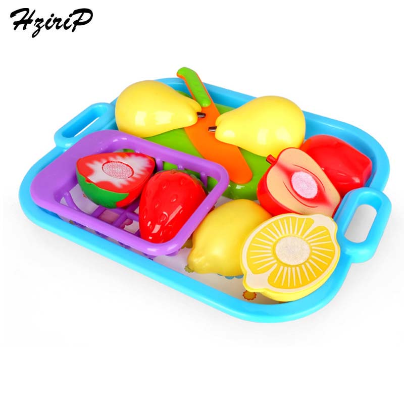 HziriP Big Fruit Food Pretend Play Sets Safety Plastic High Quality Kids Kitchen Children Educational Toys Gifts Free Shipping