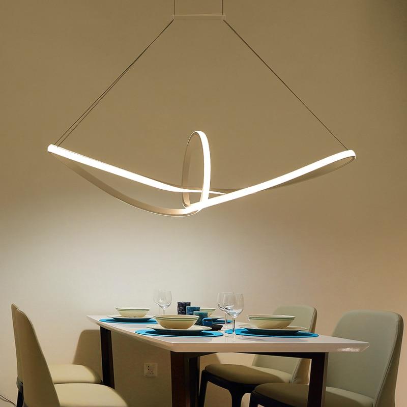 US $167.12 24% di SCONTO|Moderno Led Lampadario Per Soggiorno Pranzo Cucina  Camera lampadari moderni una sospensione AC85 265V Ciondolo Appeso ...