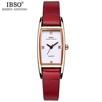 IBSO Dress Elegant Genuine Leather Strap The Woman Watch Date Fashion Top Quality Ladies Watch Party