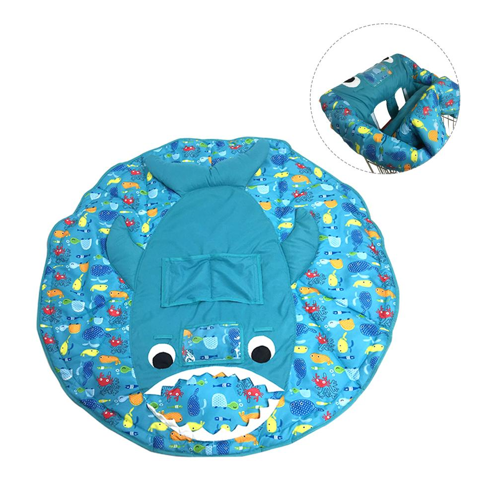 Infant Children Foldable Supermarket Shopping Cart Covers Cartoon Cushion Pad Protection Cover Seat Safety Belt Kid Chair Mat printed baby child supermarket trolley dining chair protection antibacterial safety travel portable shopping cart cushion