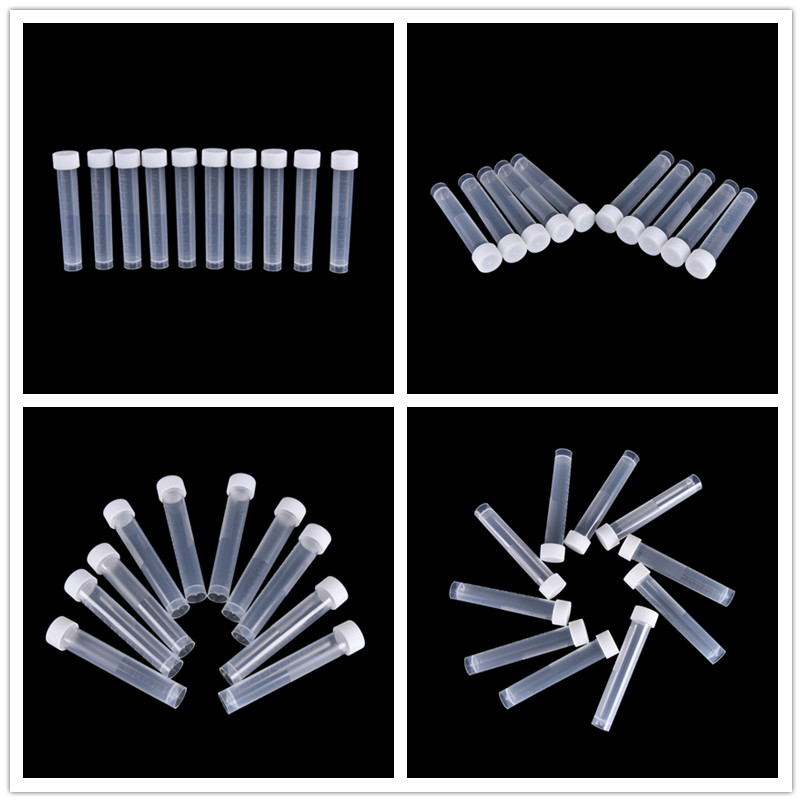 Lab Supplies Adroit Peerless 20pcs 10ml Plastic Lab Frozen Test Tubes Vial Seal Cap Container For Laboratory School Educational Suppy