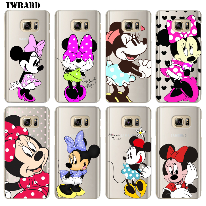 Cute Minnie Mouse Soft TPU Case For Samsung Galaxy S8 Plus Soft silicon Minnie Cover Back For fundas Samsung S8 Plus capa