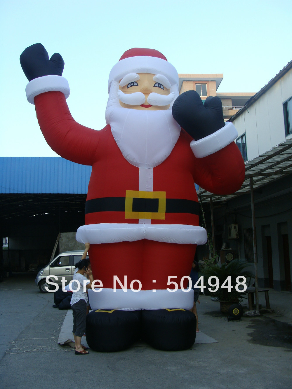 6m Inflatable Christmas Man inflatable cartoon customized advertising giant christmas inflatable santa claus for christmas outdoor decoration