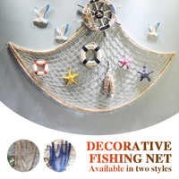 Creative Decorative Fishing Net Home Decor Wall Hangings The Mediterranean Sea Style Party Door Bedroom Wall Decor Shell Decor