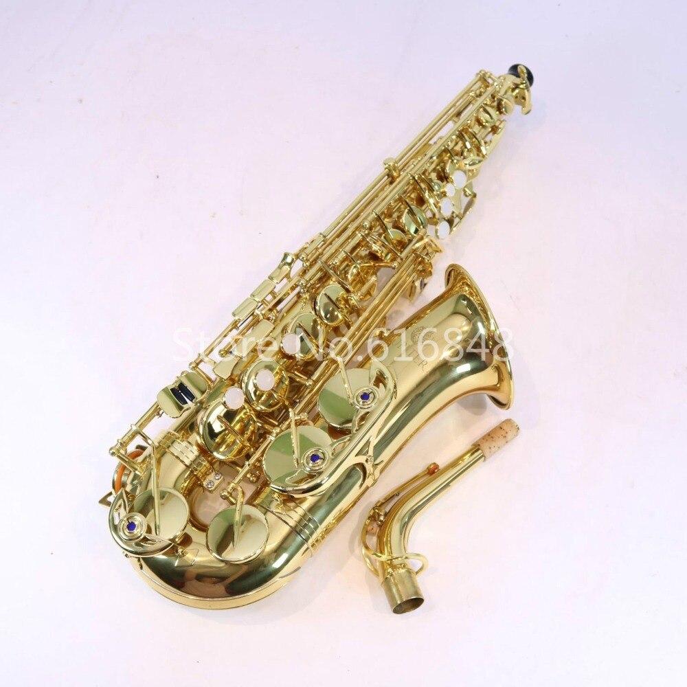 Юпитер JAS 700 бренд альт саксофон высокое качество Eb Мелодия латунные трубки золотой лак саксофон музыкальный инструмент с случае Бесплатная