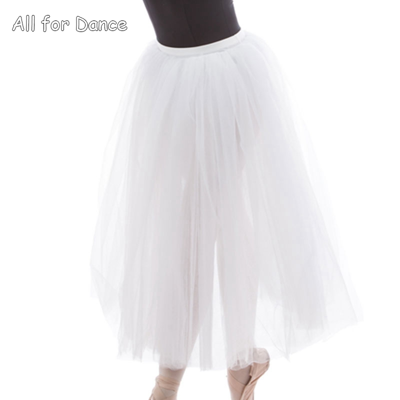 Dark blue+White/White Long Ballet Dance Dress For Girl/Lady Ballet Dance Performance Stage Show Lyrical/Contemporary Dance Wear image