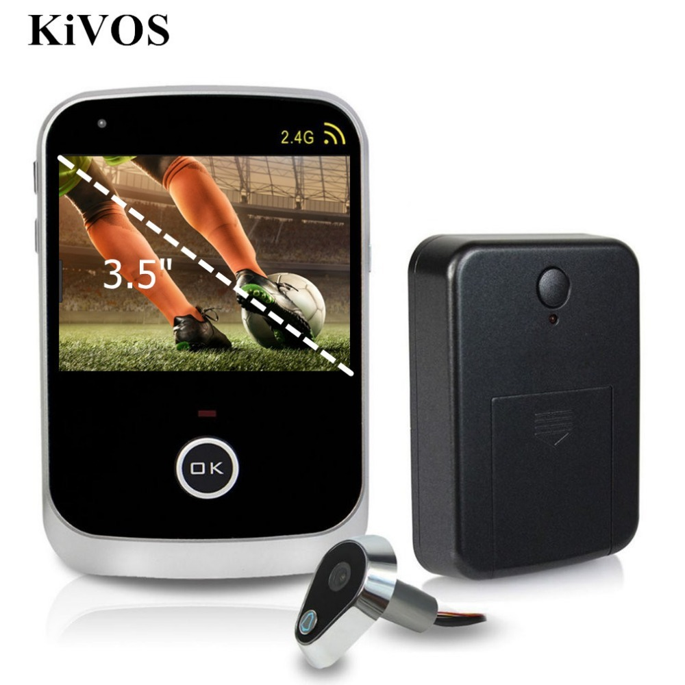 KiVOS 3.5 LCD Digital Door Eye Peephole Door Viewer Wireless Video Doorbell Wide Angle Lens Camera Monitor For Home Apartment конверт детский kaiser сине белый