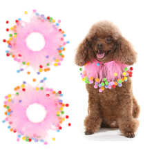 2PCS Hot sale fancy Cutes Festival Birthday Collar for small Pet Dog Puppy Cat Collar with Elastic Force
