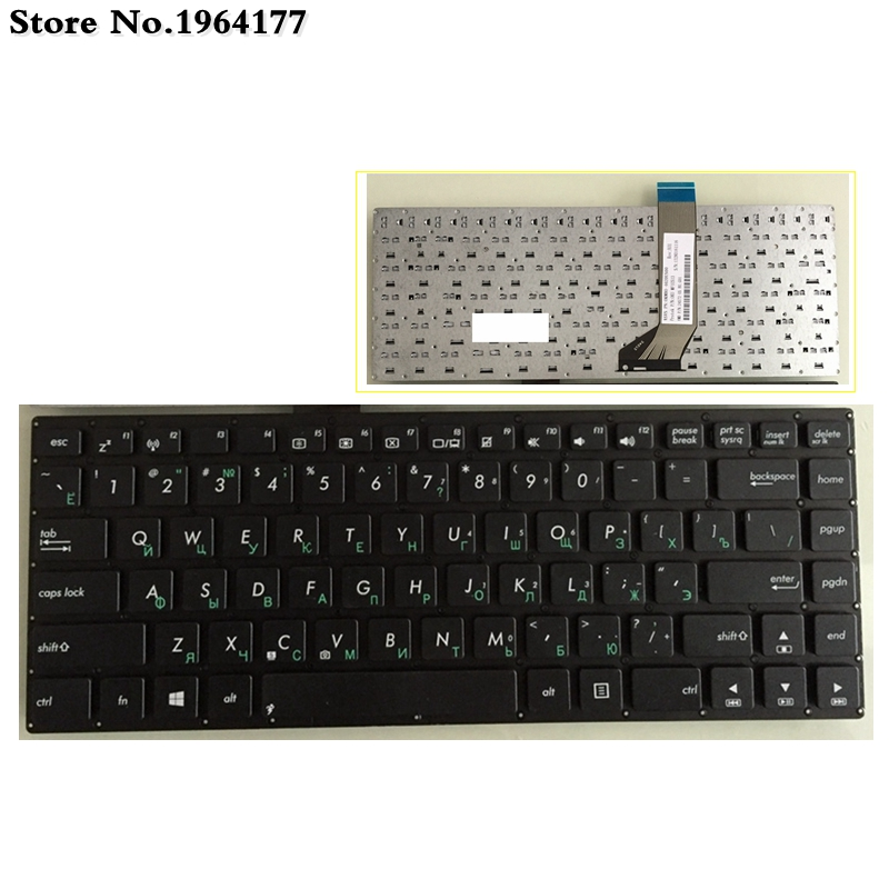 RU Black New Laptop Keyboard FOR ASUS S451 S451Lb S451L S451E X402C S400CB S400C X402 S400 F402C  S400 S400CA X402CA Russian