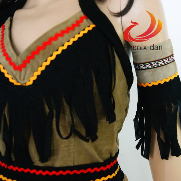 "Sexy Womens Halloween Indian Dress Costume ""Sassy Squaw"" S/M/L/XL Party Dress"