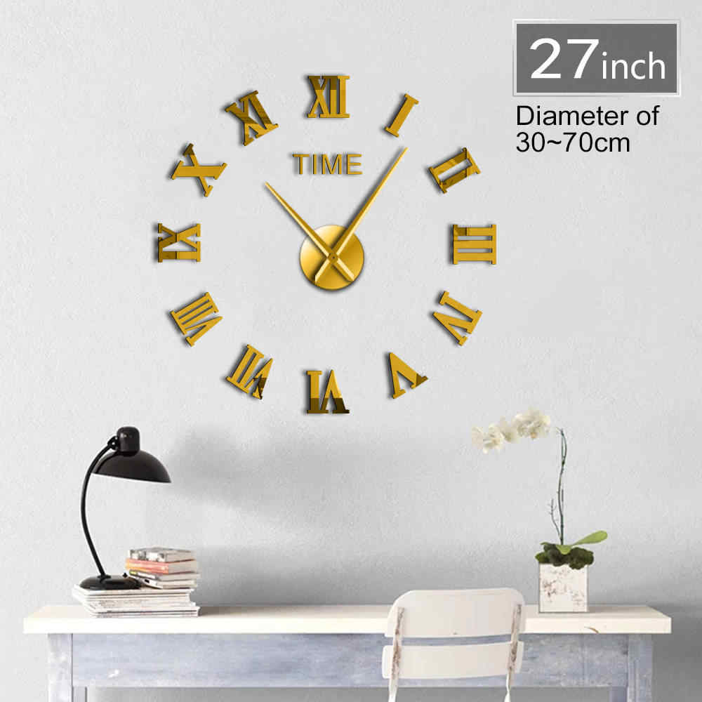 Detail Feedback Questions About Diy Classic Roman Numerals Wall