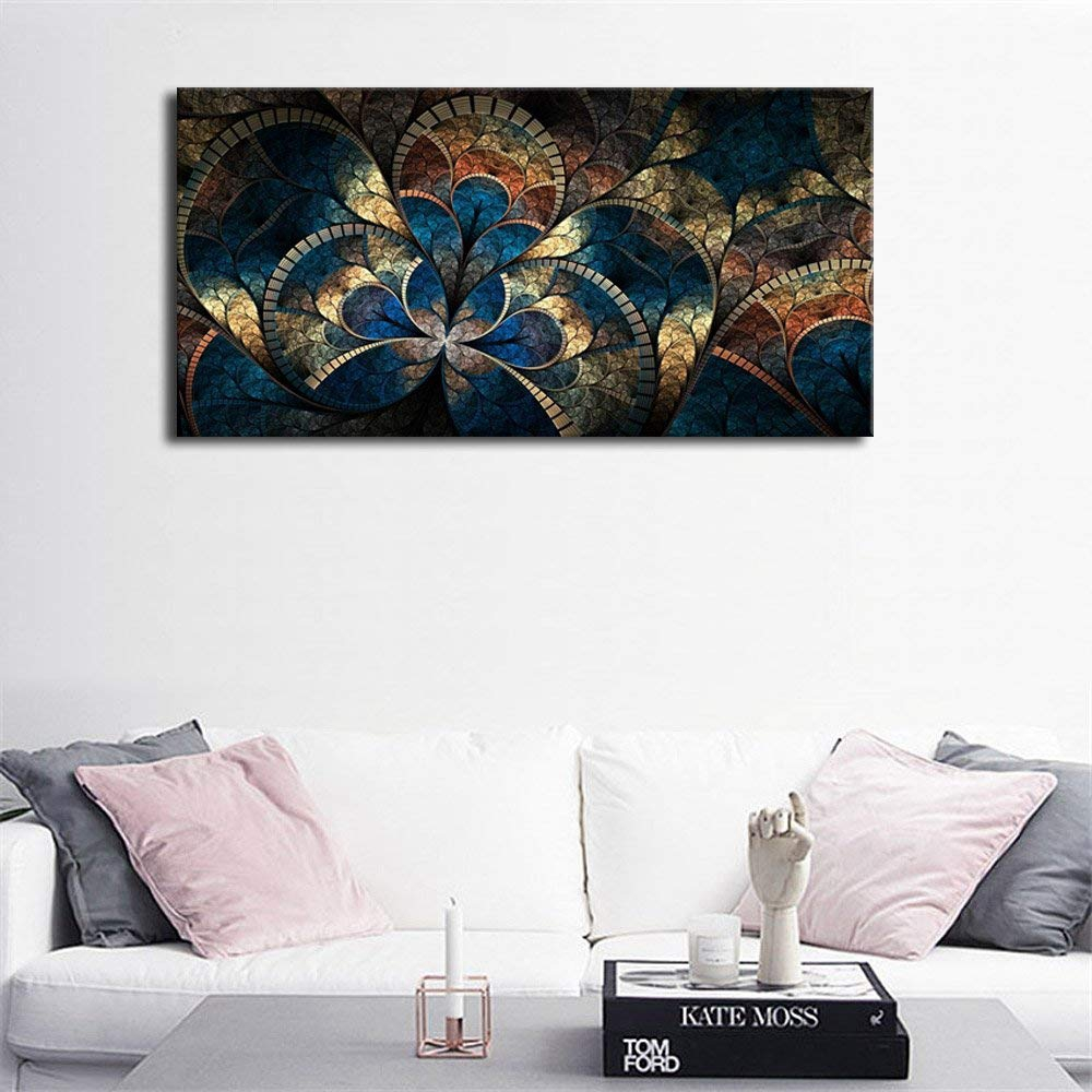 Us 27 72 16 Off Large Canvas Wall Art Abstract Fractal Design Painting Digital Pattern Artwork Contemporary Picture For Home Office Wall Decor In